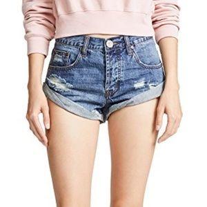 One Teaspoon Bandit Denim Jean Shorts in 24